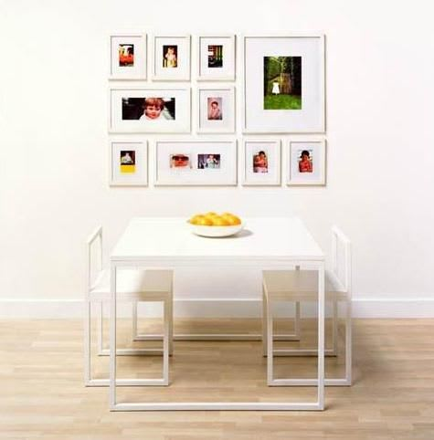 puzzle style photo wall