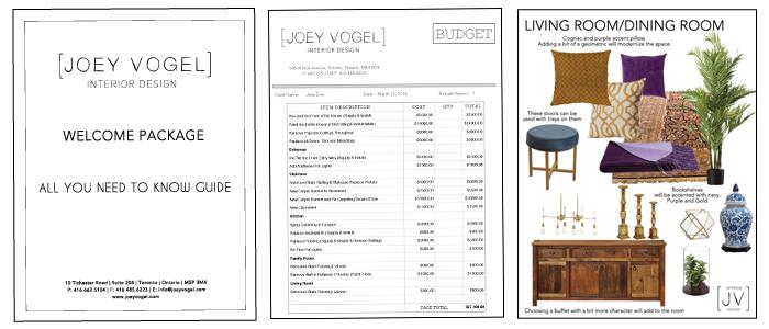 Our process joey vogel interior design toronto for Interior design consultation toronto
