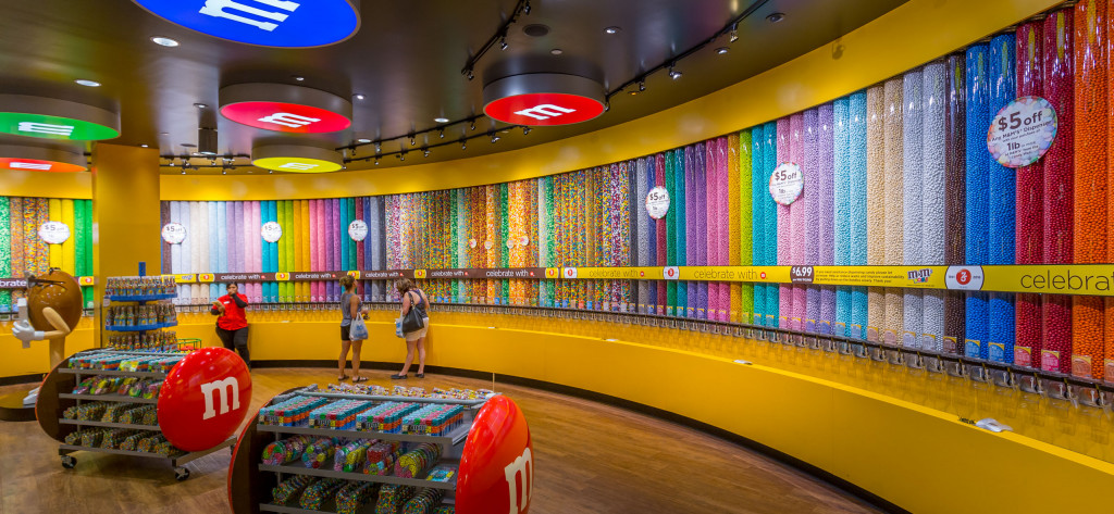 Rainbow Wall M&M Vegas