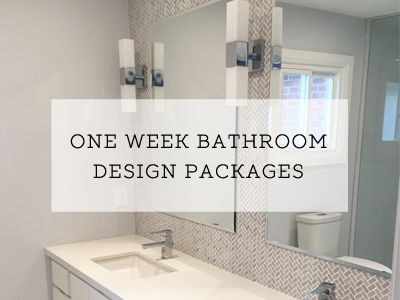 Design Packages - One week bathroom